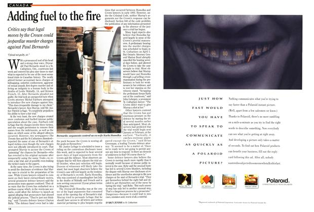 Article Preview: Adding fuel to the fire, May 1994 | Maclean's