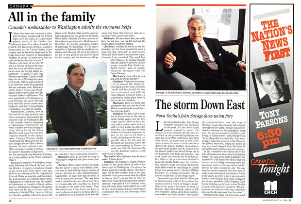 Article Preview: The storm Down East, May 1994 | Maclean's