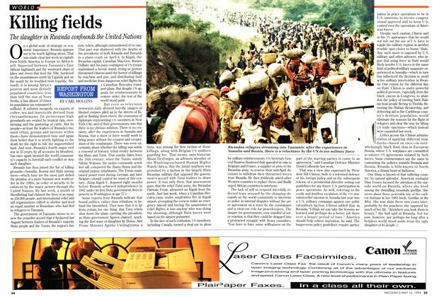 Article Preview: Killing fields, May 1994 | Maclean's