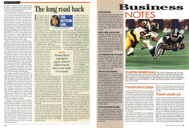 Article Preview: The long road back, May 1994 | Maclean's