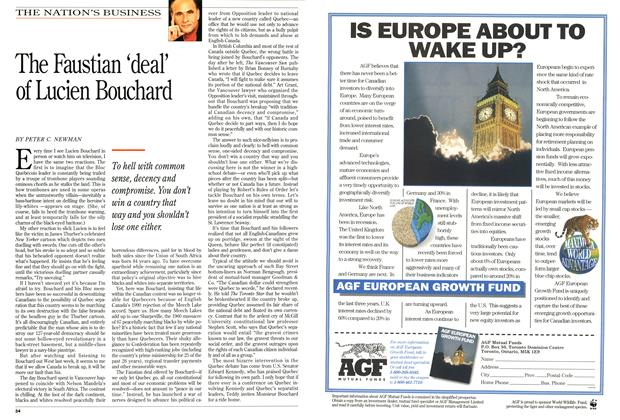 Article Preview: The Faustian 'deal' of Lucien Bouchard, May 1994 | Maclean's