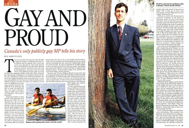 Article Preview: GAY AND PROUD, May 1994 | Maclean's
