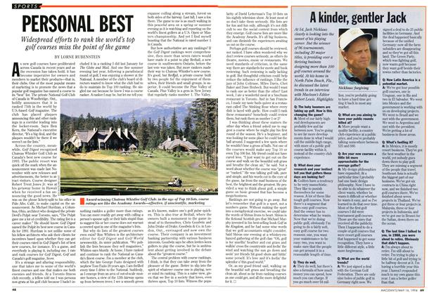 Article Preview: PERSONAL BEST, May 1994 | Maclean's
