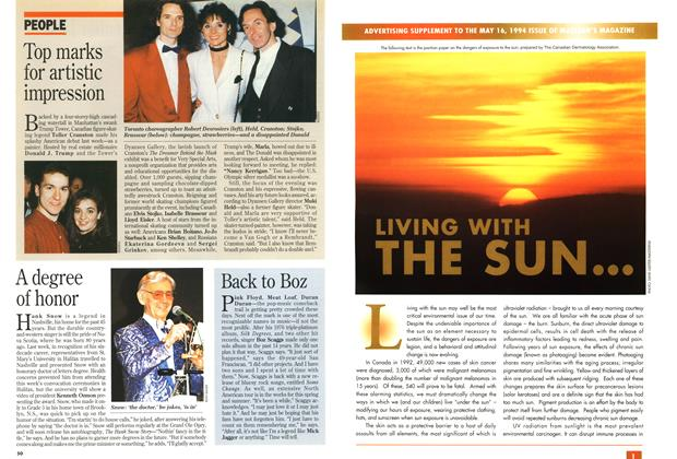 Article Preview: LIVING WITH THE SUN..., May 1994 | Maclean's