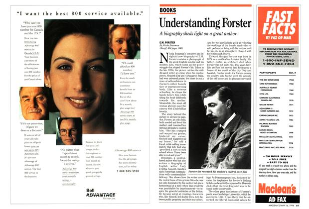 Article Preview: Understanding Forster, May 1994 | Maclean's