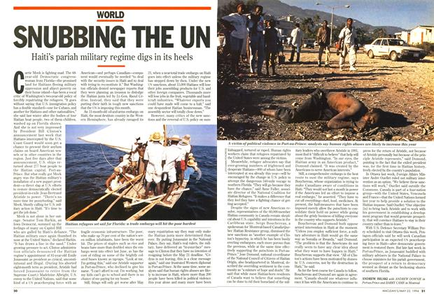 Article Preview: SNUBBING THE UN, May 1994 | Maclean's