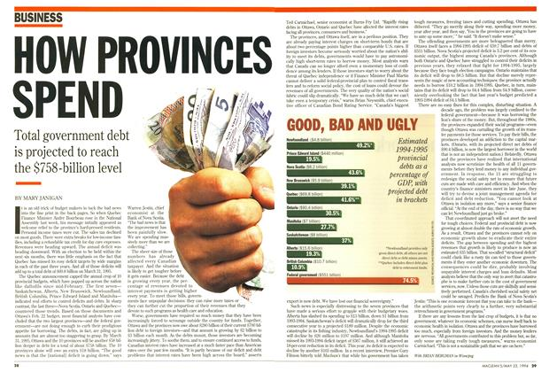 Article Preview: HOW PROVINCES SPEND, May 1994 | Maclean's