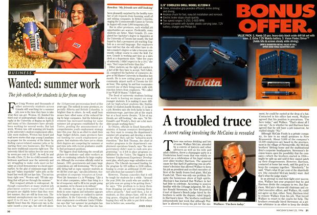 Article Preview: Wanted: summer work, May 1994 | Maclean's