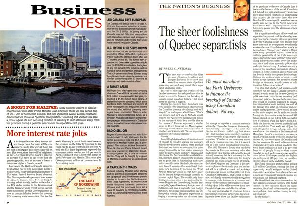 Article Preview: The sheer foolishness of Quebec separatists, May 1994 | Maclean's