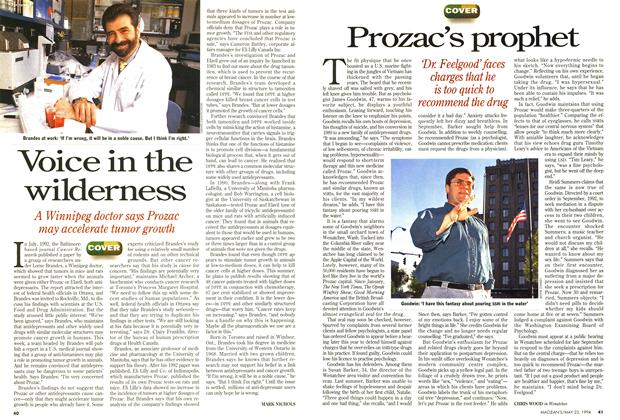 Article Preview: Prozac's prophet, May 1994 | Maclean's