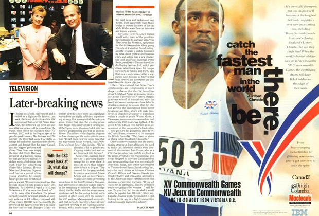 Article Preview: Later-breaking news, May 1994 | Maclean's