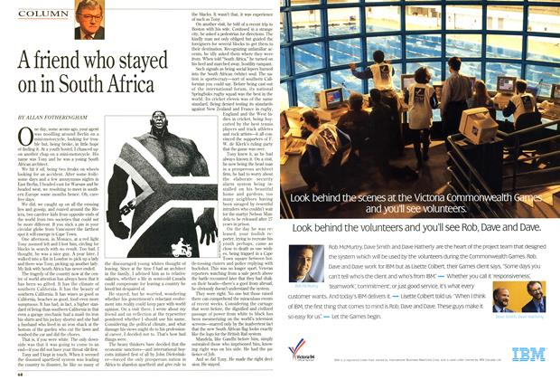 Article Preview: A friend who stayed on in South Africa, May 1994 | Maclean's