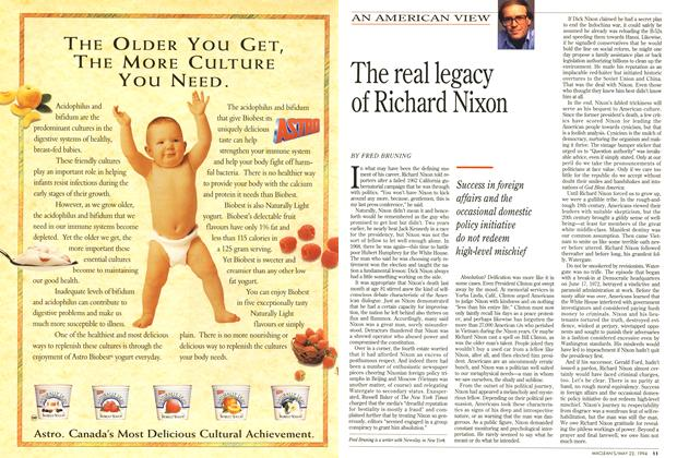 Article Preview: The real legacy of Richard Nixon, May 1994 | Maclean's