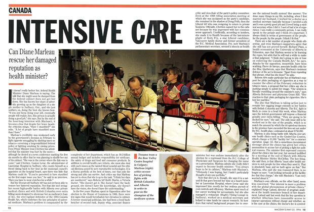 Article Preview: INTENSIVE CARE, May 1994 | Maclean's
