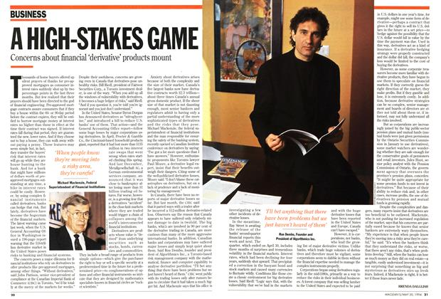 Article Preview: A HIGH-STAKES GAME, May 1994 | Maclean's