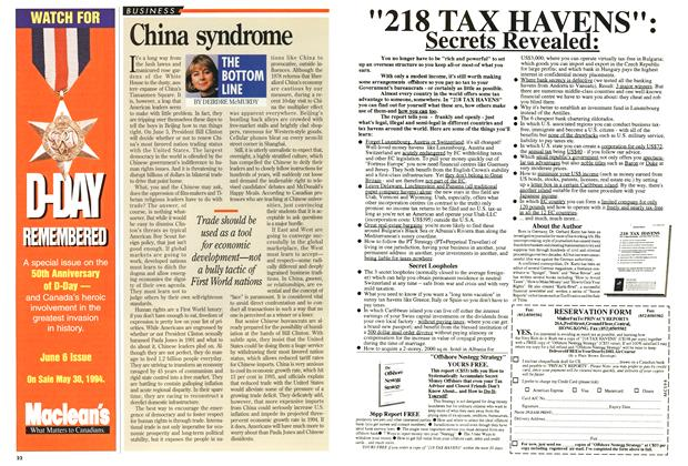 Article Preview: China syndrome, May 1994 | Maclean's