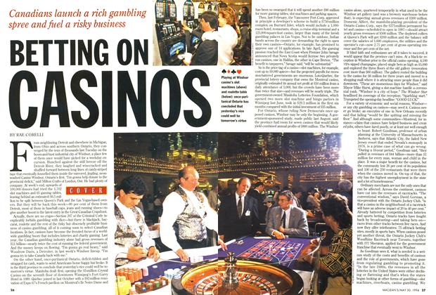Article Preview: BETTING ON CASINOS, May 1994 | Maclean's