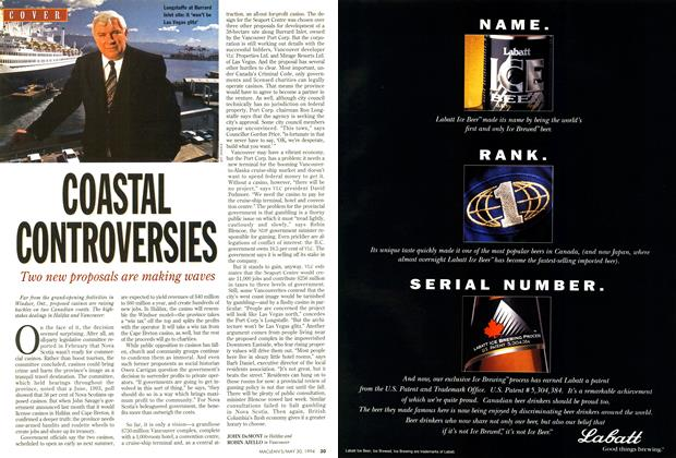 Article Preview: coASTAL CONTROVERSIES, May 1994 | Maclean's
