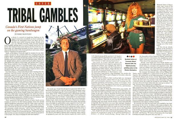 Article Preview: TRIBAL GA MBLES, May 1994 | Maclean's