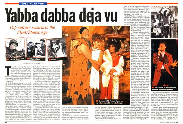 Article Preview: Yabba dabba deja vu, May 1994 | Maclean's