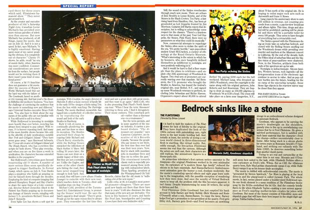Article Preview: Bedrock sinks like a stone, May 1994 | Maclean's