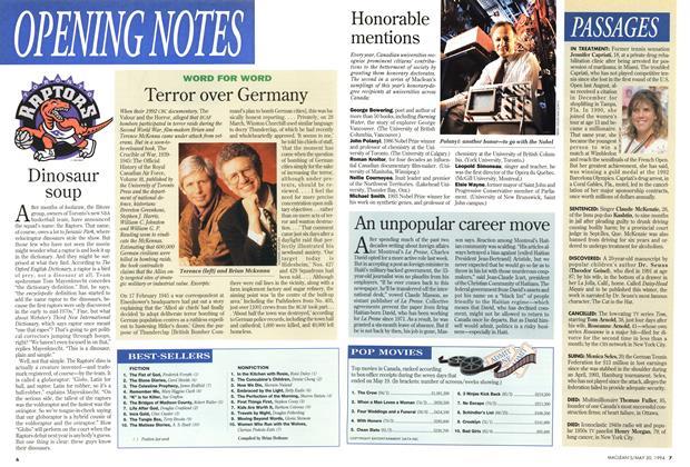 Article Preview: BESTSELLERS, May 1994 | Maclean's