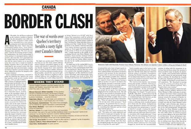 Article Preview: BORDER CLASH, May 1994 | Maclean's