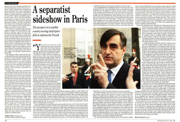 Article Preview: A separatist sideshow in Paris, May 1994 | Maclean's