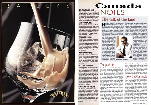 Article Preview: The talk of the land, June 1994 | Maclean's