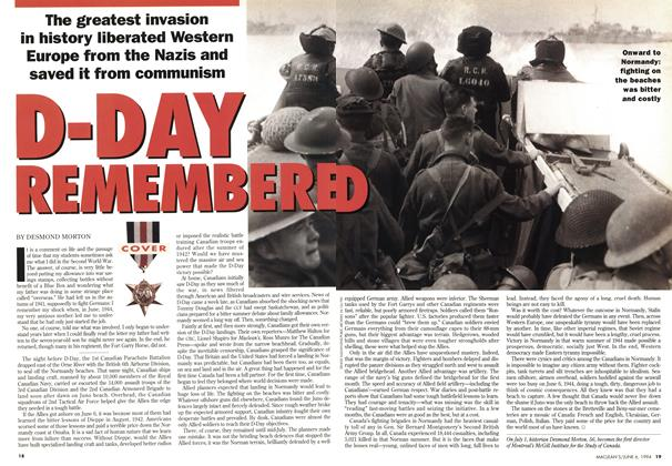 Article Preview: D-DAY REMEMBERED, June 1994 | Maclean's