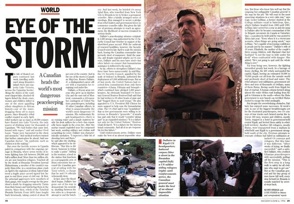 Article Preview: EYE OF THE STORM, June 1994 | Maclean's