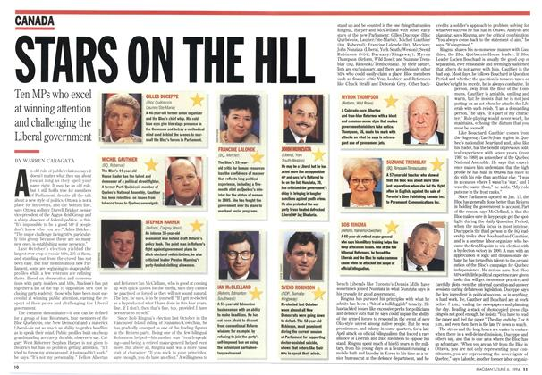 Article Preview: STAR ON THE HILL, June 1994 | Maclean's