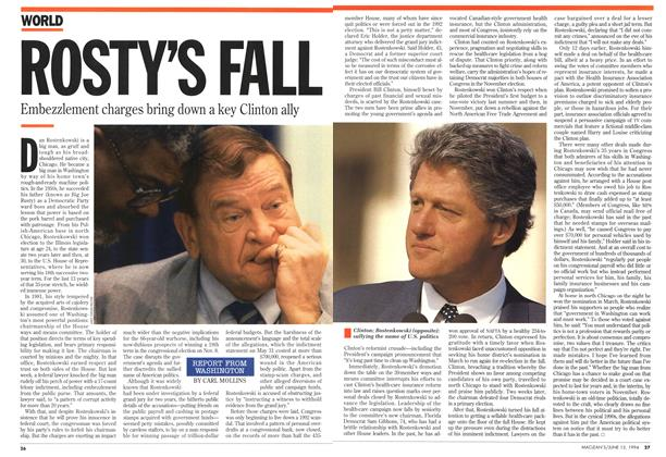 Article Preview: ROSTY'S FALL, June 1994 | Maclean's