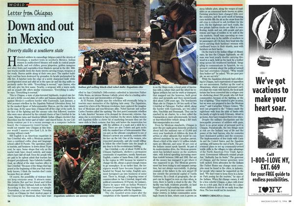 Article Preview: Down and out in Mexico, June 1994 | Maclean's