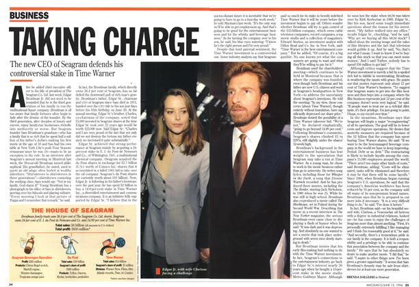 Article Preview: TAKING CHARGE, June 1994 | Maclean's
