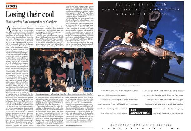 Article Preview: Losing their cool, June 1994 | Maclean's