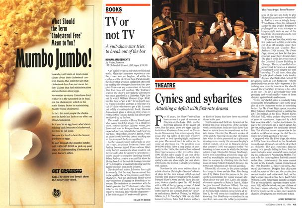 Article Preview: TV or not TV, June 1994 | Maclean's