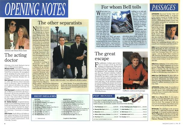 Article Preview: BESTSELLERS, June 1994 | Maclean's
