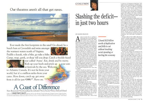 Article Preview: Slashing the deficit-in just two hours, June 1994 | Maclean's