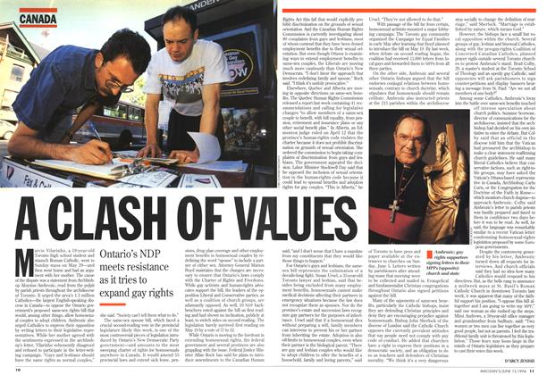 Article Preview: A CLASH OF VALUES, June 1994 | Maclean's
