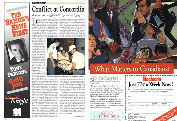 Article Preview: Conflict at Concordia, June 1994 | Maclean's