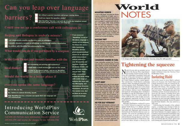 Article Preview: World NOTES, June 1994 | Maclean's