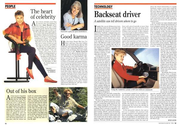Article Preview: Backseat driver, June 1994 | Maclean's