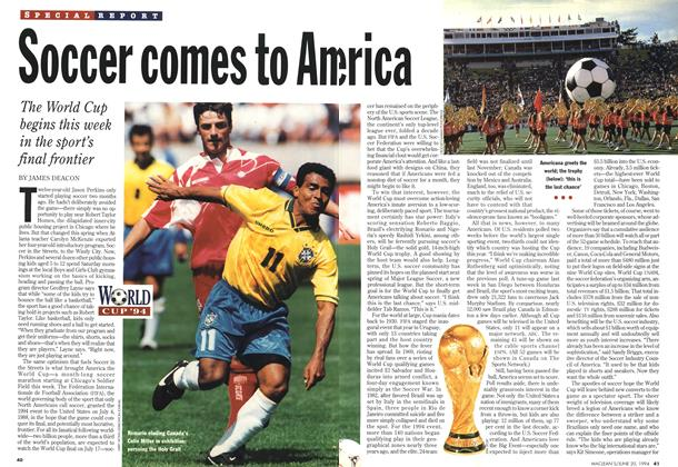 Article Preview: Soccer comes to America, June 1994 | Maclean's