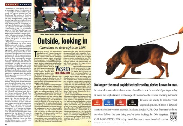 Article Preview: Outside, looking in, June 1994 | Maclean's