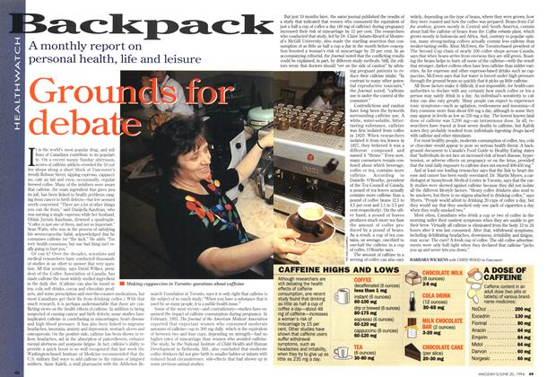 Article Preview: Grounds for debate, June 1994 | Maclean's