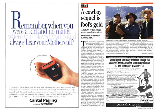 Article Preview: A cowboy sequel is fool's gold, June 1994 | Maclean's