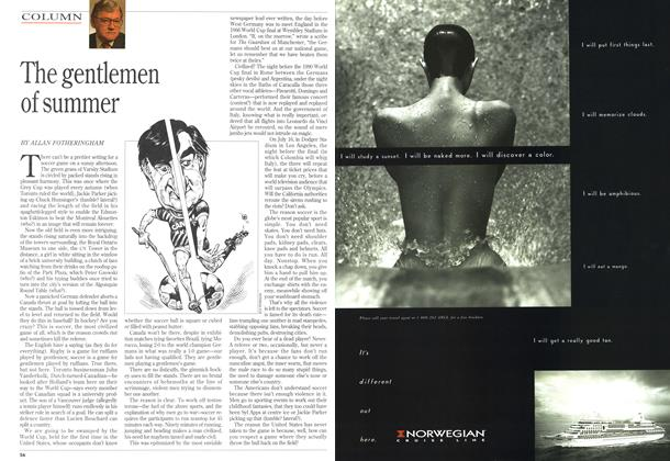 Article Preview: The gentlemen of summer, June 1994 | Maclean's