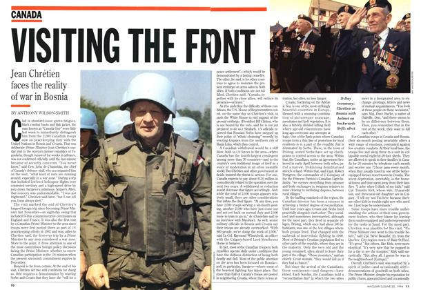 Article Preview: VISITING THE FRONT, June 1994 | Maclean's