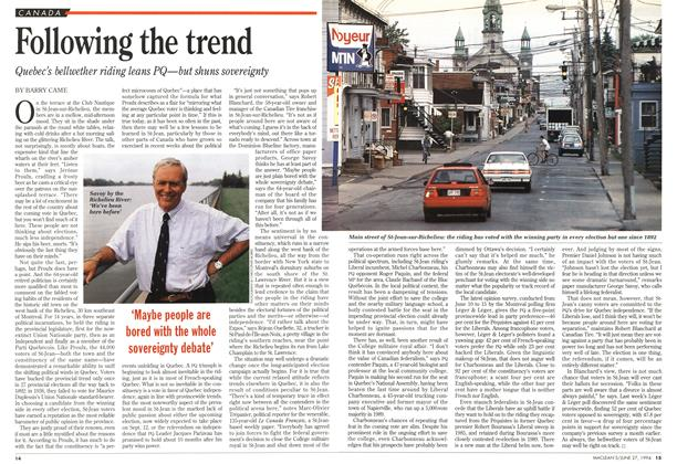 Article Preview: Following the trend, June 1994 | Maclean's